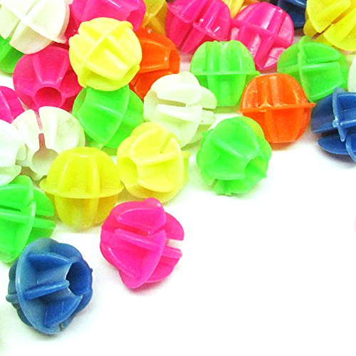 WeTERM 106 PCS Colorful Plastic Bike Bicycle Wheel Spokes Clip Beads Decorations