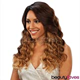 SAGA Remy Deep Invisible 'L' Part Lace Front Wig CHAMELEON (1B)