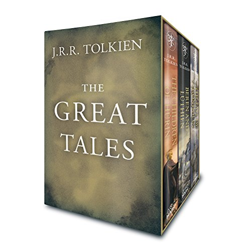 Book cover from The Great Tales of Middle-earth: Children of Húrin, Beren and Lúthien, and The Fall of Gondolin by J.R.R. Tolkien