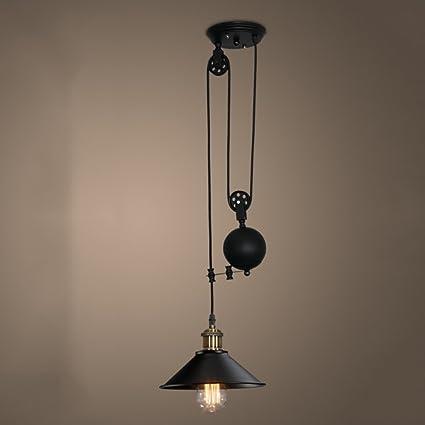 DFMD Lámpara de la polea de Hierro, Vintage Industrial ...