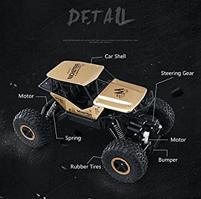 SZJJX RC Cars Off-Road Rock Vehicle Crawler Truck 2.4Ghz 4WD High Speed 1:14 Radio Remote Control Racing Cars Electric Fast Race Buggy Hobby Car Golden