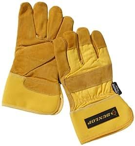 Dunlop 360101 - Guantes de trabajo (con Thinsulate de 3M, piel y algodón, categoría 2, EN 388/ 4133), color amarillo