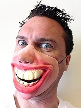 2a4141442a Funny Big Teeth Grin Smile Latex Half Face Mask Fancy Dress Masquerade