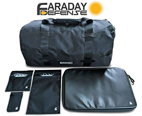 Faraday Defense Complete EMP EMF RFID Duffel Bag Kit by Faraday Defense