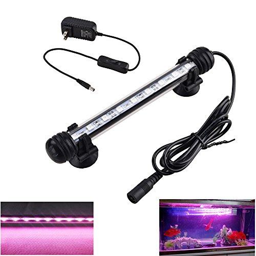 LeDengLux LED Aquarium Lights,LED Fish Tank Lights,Pink Color Lights for Betta Fish,9 LEDs,Hand-sized,7.5inch (Pack of 1) - 10 Gallon Light Aquarium