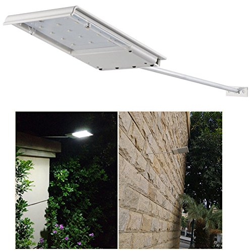 FAMI Waterproof Solar Powered LED Light / Wall Light / Security Night Light / Signage Lighting for Outdoor, Perimeter, Fence, Garden, Deck Posts, Garage, Backyard, Trees, Steps, Barn (1 - Stores Perimeter