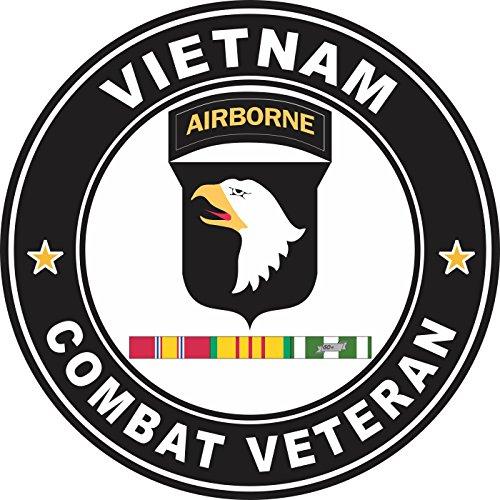 - Military Vet Shop US Army 101st Airborne Division Vietnam Service Combat Veteran Window Bumper Sticker Decal 3.8