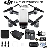 DJI Spark Quadcopter (Alpine White) CP.PT.000731 3 Battery Bundle