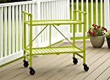 Cosco Indoor/Outdoor Serving Cart, Folding, Bright Green