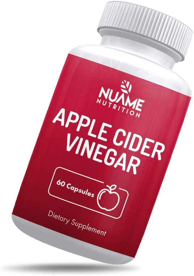 Apple Cider Vinegar Supplement Capsules: ACV Dietary Weight Loss and Detox Pills, Extra Strength 1300mg per Serving, All Natural, Non-GMO, Vegan Pill, Diet Metabolism Booster
