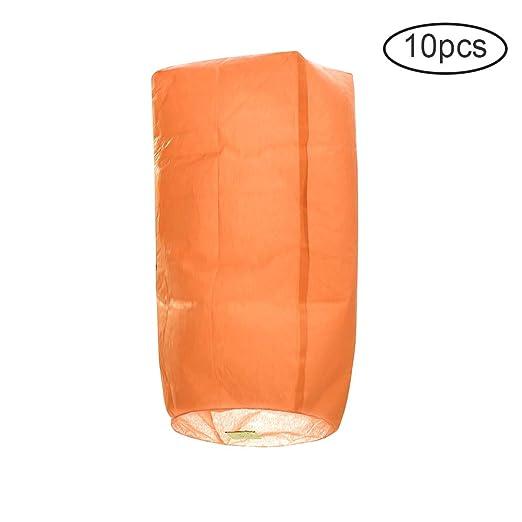 JstDoit 15Inch Biodegradable Paper Chinese Flying Lanterns, Eco ...