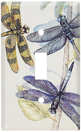 Cover Switchplate Decorative - Art Plates - Dragonflies Switch Plate - Single Toggle