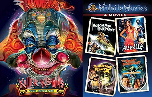 Weirdos, Morons and Klowns Midnite Movies Sci-Fi Big Pack - Morons From Outer Space, Alien from LA, The Man from Planet X, The Angry Red Planet & Killer Klowns from Outer Space