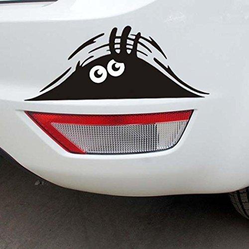 Boddenly  Funny Car Sticker 3D Eyes Peeking Monster Voyeur Car Window Decal Stickers (Black)