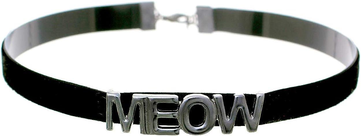 Arsimus Meow ベルベット キティ チョーカー ネックレス