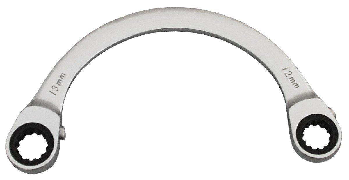Bovidix 6165713 Spherical C-Type Reversible Ratchet Wrench 12 x 13mm Metric