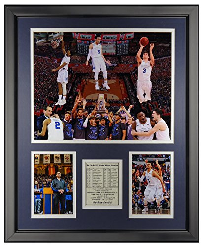 Legends Never Die Duke Blue Devils 2015 National Champions - Podium - Framed Photo Collage, 16