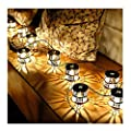 1.5m/4.9ft 10 Bulbs Christmas Lights Lantern Fairy String Light Warm White Retro Vintage Metal Iron Hollow Flower Cage for Wedding Party Home Room Decorations Outdoor Plug-in Lighting 110V
