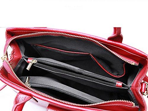 main Leno sac serrure main en Noir de Messenger occasionnel Amérique à main Sac cuir à sac Rencontres cuir simple à sac cuir Europe en main Couleur rue en Rouge boucle à travail qwq0UrZ