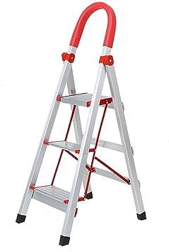 TLTLTD Escaleras de mano de 3 peldaños, Escalera de acero portátil de una cara para uso doméstico Escalera de cocina Escalera ascendente, antideslizante, ahorra espacio: Amazon.es: Bricolaje y herramientas