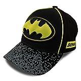 DC Comics Little Boys Assorted Superhero Designs 3D Pop Cotton Baseball Cap, Age 2-7 (Toddler Boys - Age 2-4 - 51CM, Batman - Black/Yellow)