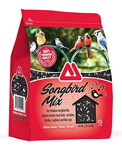 TMF 100% Premium Quality Songbird Mix Bird Seed , 4 lb (Chickadee Food 4lb)
