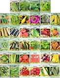 Set of 34 Pack Vegetable & Herb Seeds 34 Varieties Create a Deluxe Garden All Seeds are Heirloom, 100% Non-GMO! by Black Duck Brand 34 Different Varieties: more info