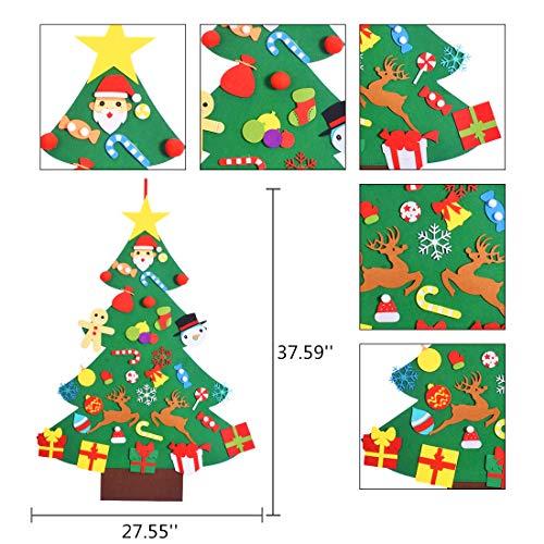 Max Fun Felt Christmas Tree Set DIY 3.2FT with 36 Ornaments Xmas Decoration Home Wall Hanging Children's Felt Craft Kits…