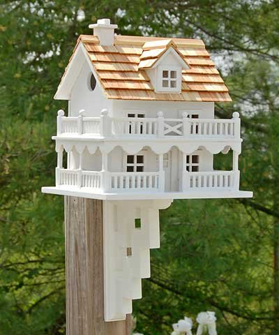 Birdhouse Bracket - Novelty Cottage Birdhouse With Bracket 1 pc.