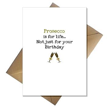 Prosecco Birthday Card