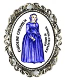 Caroline Chisholm Patron of Exploited Women Huge 2'' Antique Silver Pin Brooche