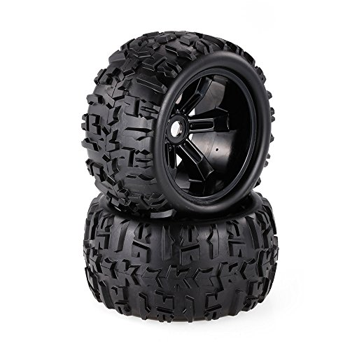 Goolsky 2pcs 3.6 Inch 150mm Monster Truck Wheel Rim and Tire for 1/8 Traxxas HSP HPI E-MAXX Savage Flux ZD Racing RC Car
