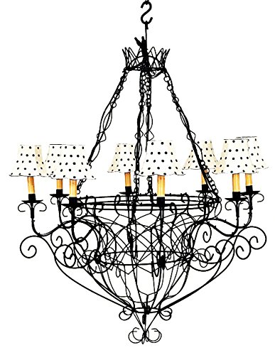 Black iron french basket chandelier romantic country cottage wire black iron french basket chandelier romantic country cottage wire 8 light aloadofball Images