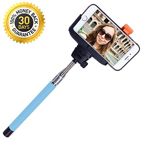 Selfie Stick Monopod with Build-in Bluetooth from A-Mire Offer Extendable Phone Holder with Bluetooth Shutters Remote Self-shooting Best for Travel for iPhone 6, iPhone 6 Plus, iPhone 5 5s 5c, Smartphone, Have the perfect picture Now! by Amire (Image #6)