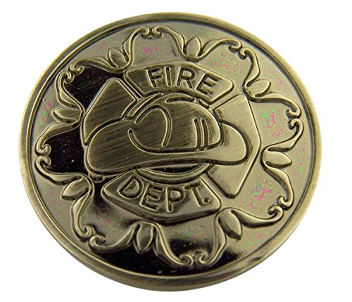 Silver Tone Faithful Protector Pocket Token with Prayer - Fire Department