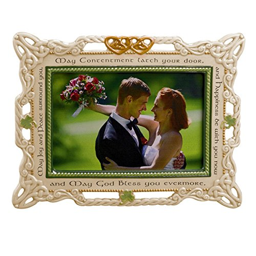 Grasslands Road Celebrating Heritage Celtic Wedding Ceramic Frame, 7 by 9-Inch, Holds 4 by 6-Inch Photo
