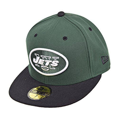 NFL New York Jets Two Tone 59Fifty Fitted Cap, Green/Black, 7 (Hat Jets York Green)