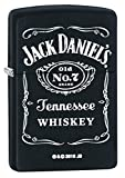 "Zippo ""Jack Daniel's Tennessee Whiskey"" Black Matte Lighter, 3742"