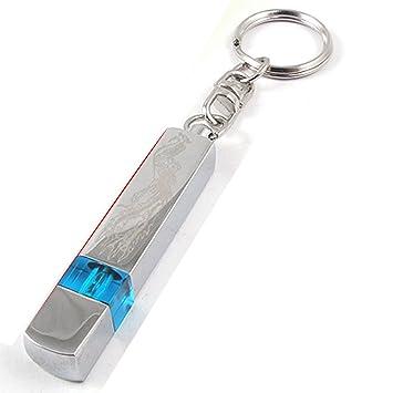 Sourcingmap a12011500ux0046 - Tono de plata azul de alta tensión antiestático coche llavero estática descargador eliminatoria