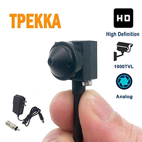Mini Spy Hidden Camera HD 1000TVL Small Portable Wired Spy Camera Pinhole Convert Camera BNC Video Camera Nanny Cam for CCTV Security Cam Indoor Home Survelliance System Hidden Cam DVR FPV by TPEKKA