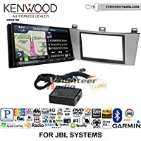 Volunteer Audio Kenwood DNX874S Double Din Radio Install Kit with GPS Navigation Apple CarPlay Android Auto Fits 2004-2008 Toyota Solara with Amplified System (Silver)