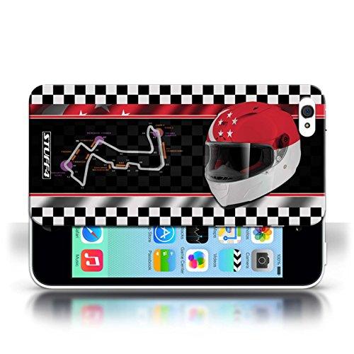 Etui / Coque pour Apple iPhone 5C / Singapour conception / Collection de F1 Piste Drapeau