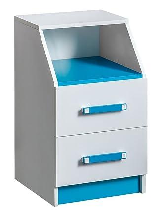 Kinderzimmer Kommode Frank 15 Farbe Weißblau 67 X 40 X 40 Cm