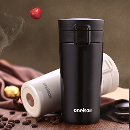 Black Stainless Steel Travel Tumbler Tumbler Coffee Mug 12 Oz