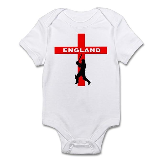 1595ea5f4c CafePress - England Cricket - Cute Infant Bodysuit Baby Romper  Amazon.ca   Clothing   Accessories