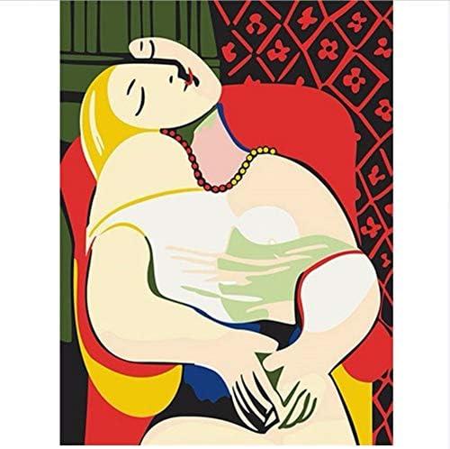 DIY Pintura Digital Por Números Picasso Pintura Mural Kits Para Colorear Arte De La Pared Imagen Regalo Sin Marco 40X50Cm