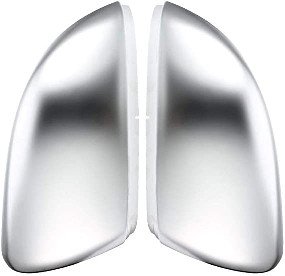 Amazon Com 2 Pieces For Vw Golf Mk7 7 5 Gti Mk6 6 7 R R20 Side Wing Mirror Covers Caps Silver Matt Chrome Brushed Aluminum Golf Mk6