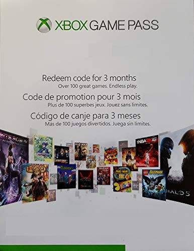 Xbox One Game Pass 3 Month Subscription Card (Physical Card)