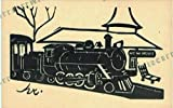 New Hope and Ivyland Railroad Linoleum Cut Postcard by Newtown Crafts (Signed hr.)
