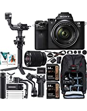 $1679 » Sony a7 II Full-Frame Alpha Mirrorless Digital Camera a7II + 28-70mm Lens ILCE-7M2/K Filmmaker's Kit with DJI RSC 2 Gimbal 3-Axis Handheld Stabilizer Bundle + Deco Photo Backpack + Software